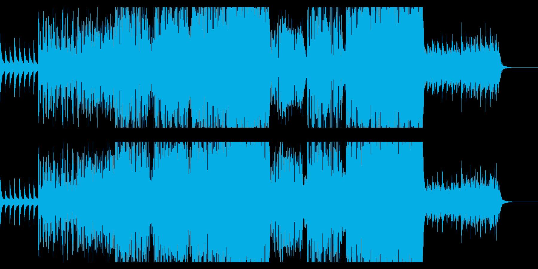 ピアノとグリッヂのポップなエレクトロニカの再生済みの波形
