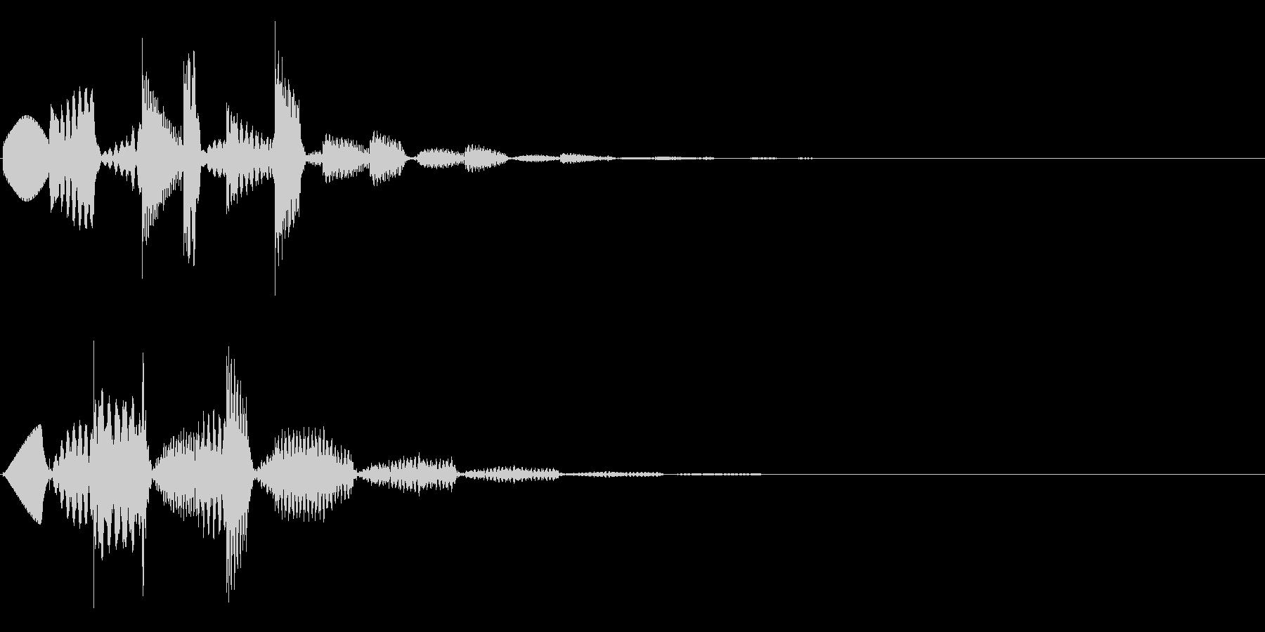 ワンポイント、テロップ等(琴系)の未再生の波形