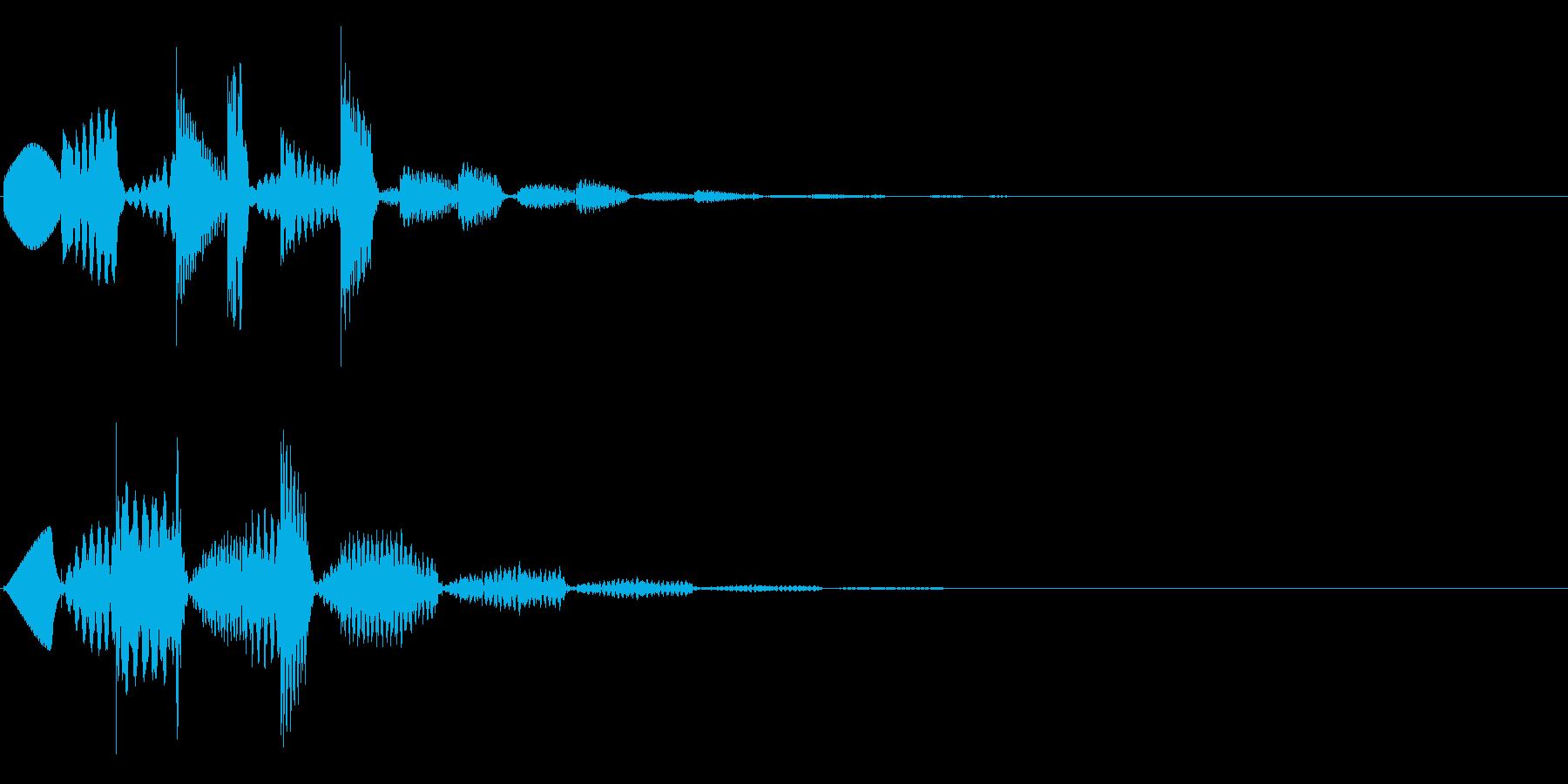 ワンポイント、テロップ等(琴系)の再生済みの波形