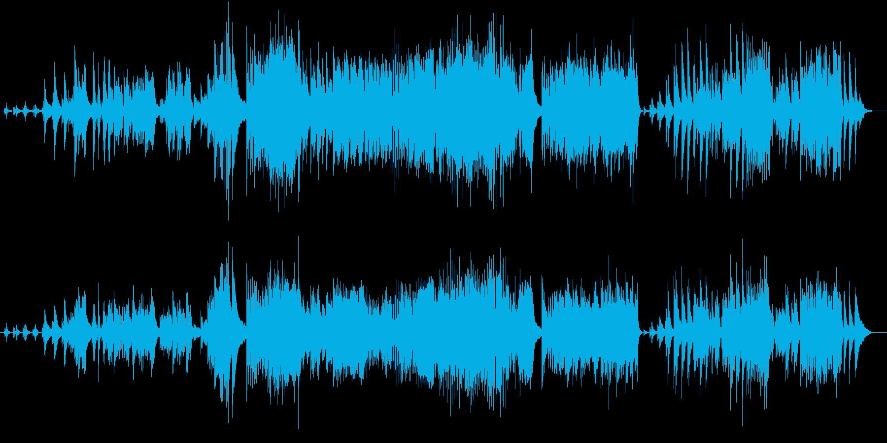 クラシックとジャズが融合したピアノ曲の再生済みの波形
