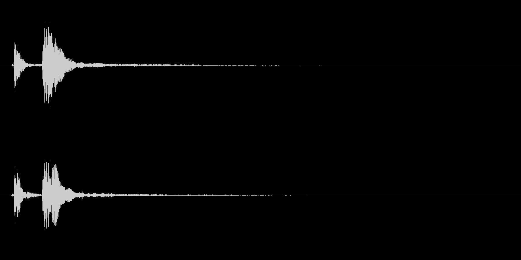 能や歌舞伎の小鼓(つづみ)の連続音+FXの未再生の波形