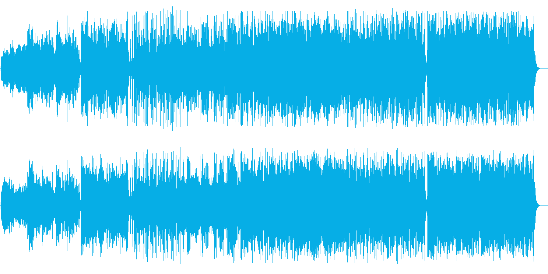 美しく迫力ある和風管弦楽器シンセサウンドの再生済みの波形