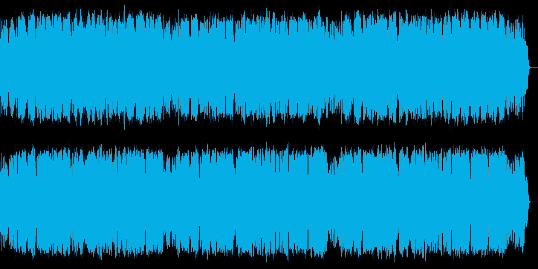 弾むシャッフルリズム、楽しい雰囲気の楽曲の再生済みの波形
