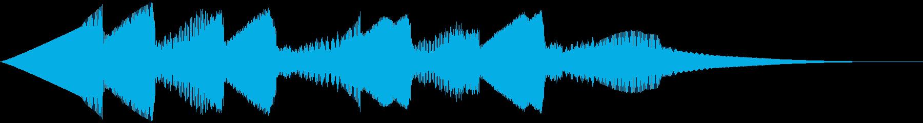 5秒CM用、ほのぼの家族verAの再生済みの波形