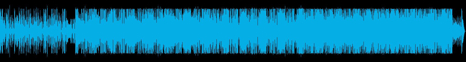 映像に合う疾走感のあるエレクトロニカの再生済みの波形