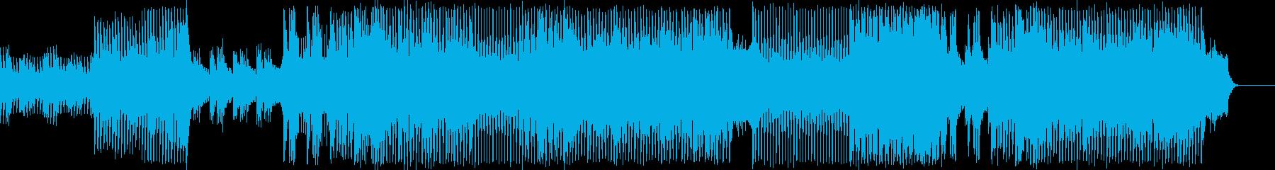 ピアノメインのドラマテックなEDMの再生済みの波形