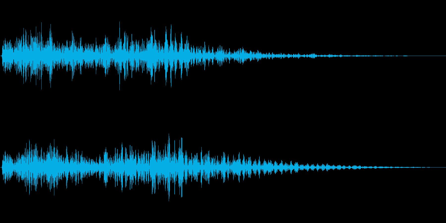 瞑想・回想シーンの暗い心理的な音の再生済みの波形