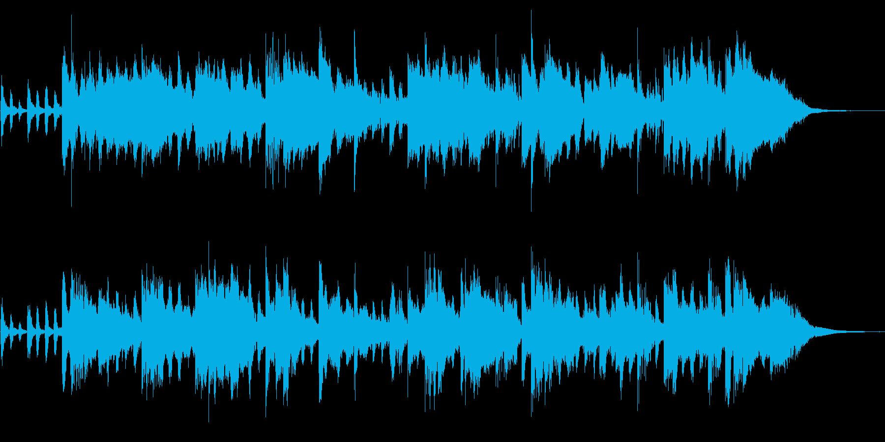 不安をかき立てる不気味な曲の再生済みの波形