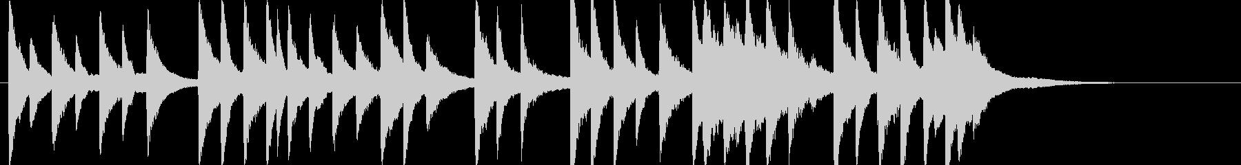 「君が代」の幻想的なピアノソロの未再生の波形