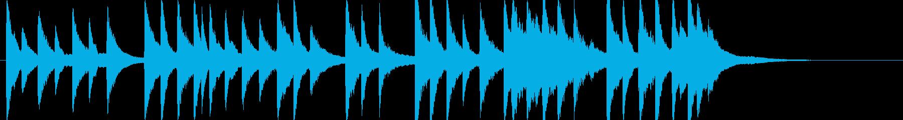 「君が代」の幻想的なピアノソロの再生済みの波形