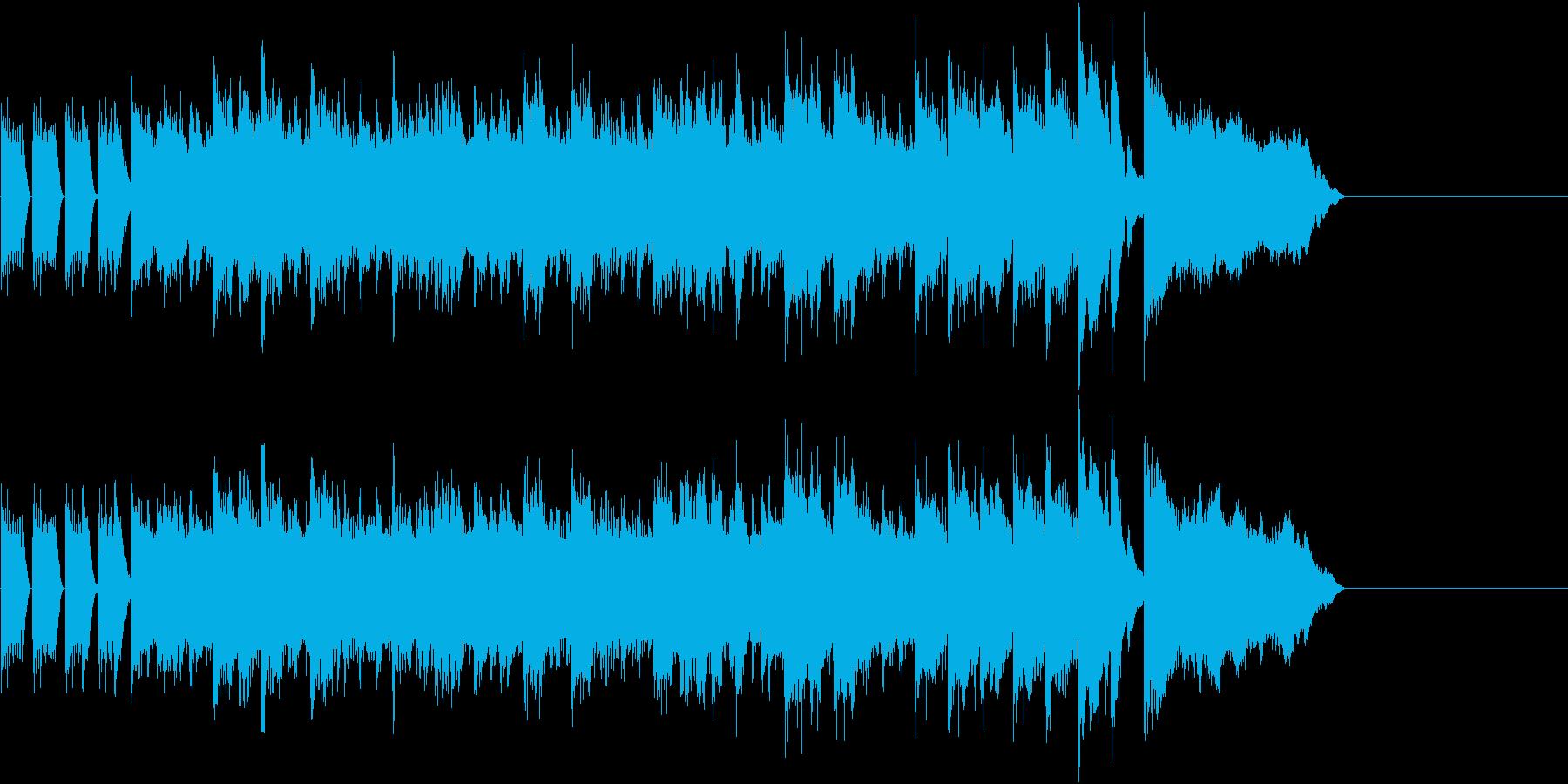 お洒落なエレクトリックピアノのジングルの再生済みの波形