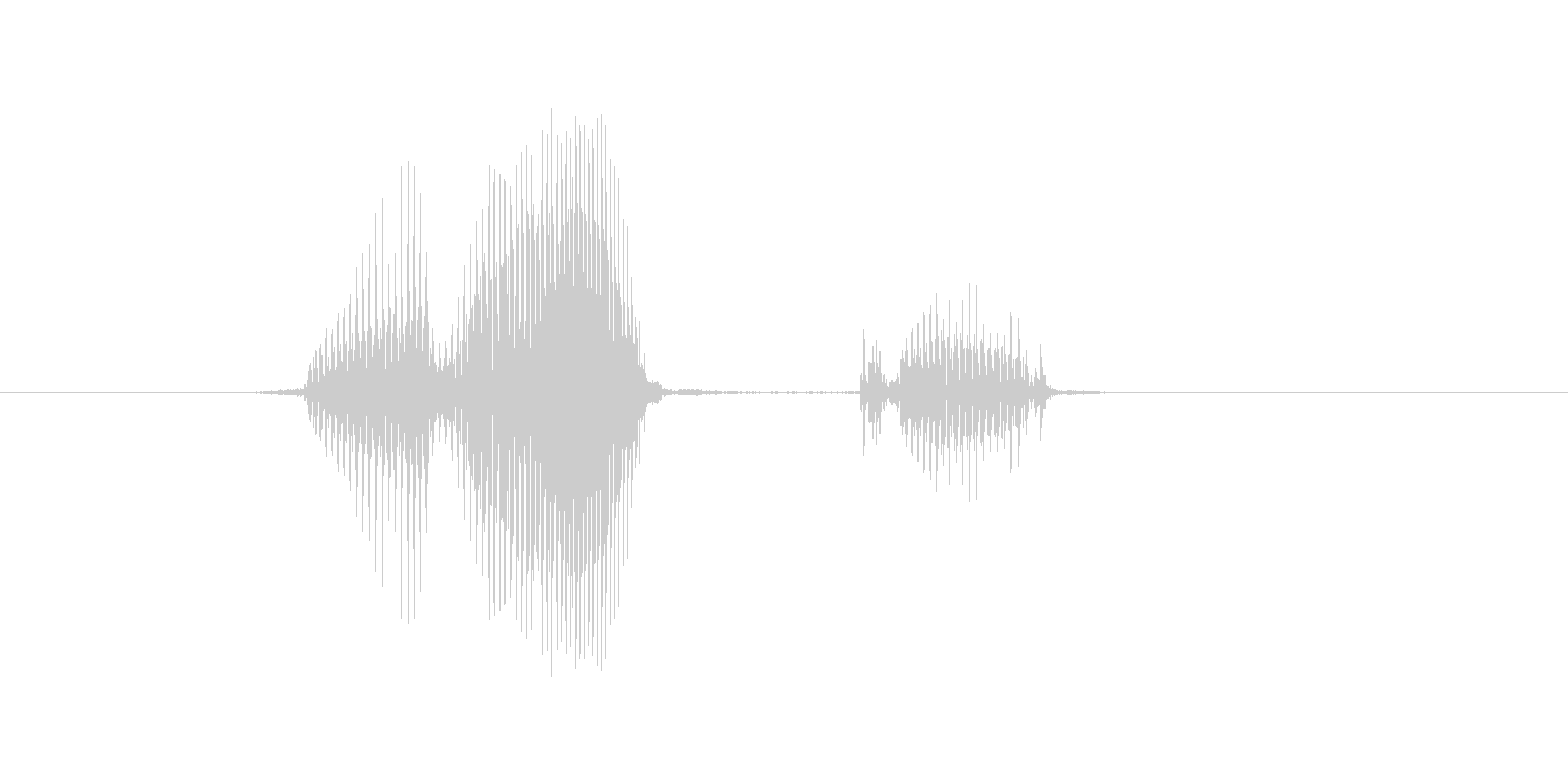 開くの未再生の波形