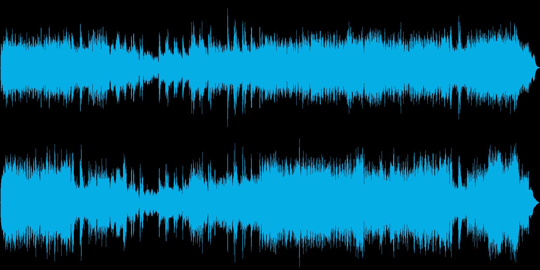 オーケストラによる冒険の始まりを告げる曲の再生済みの波形