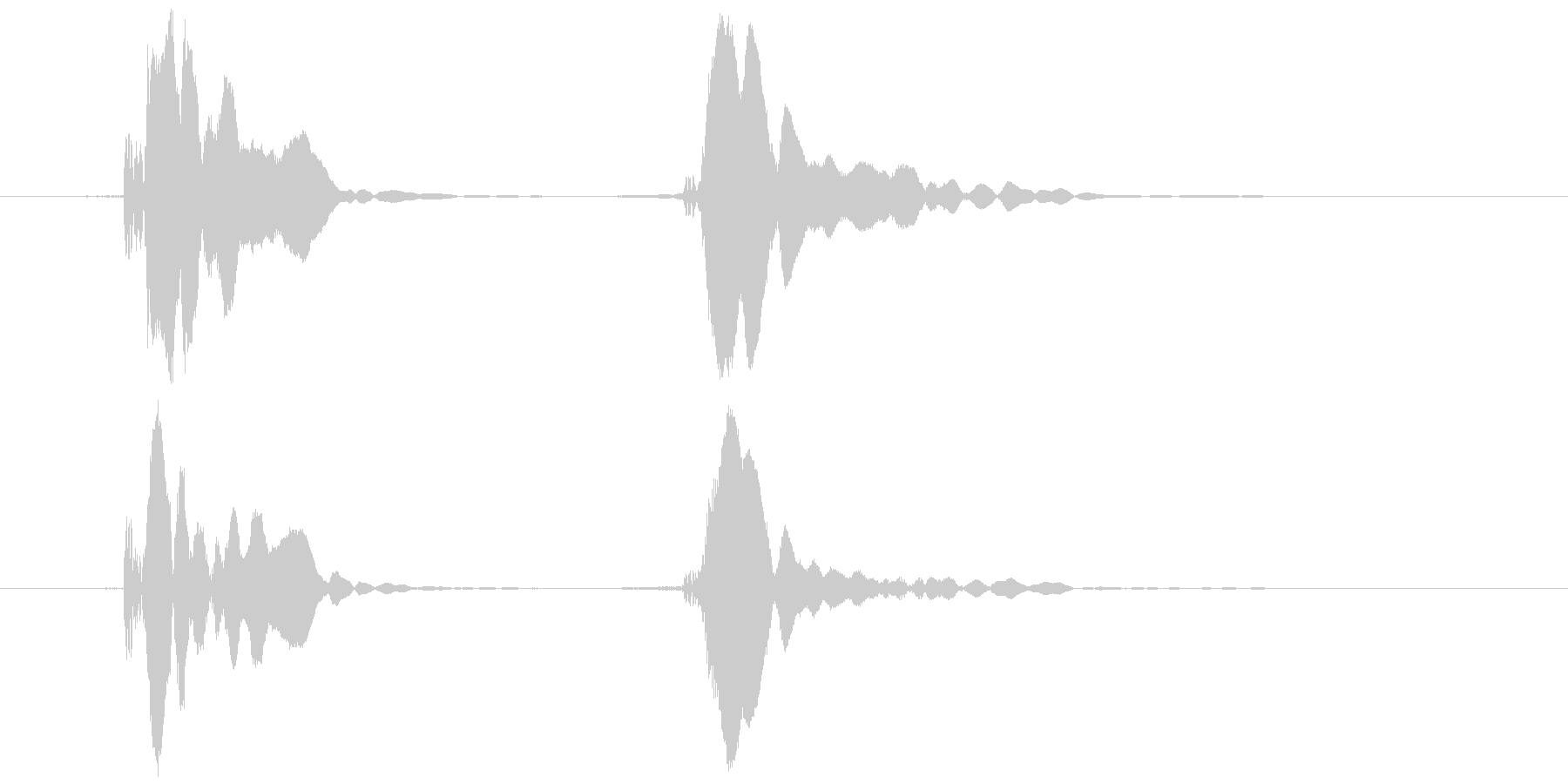 ピコピコハンマー ピコッ (高め)の未再生の波形