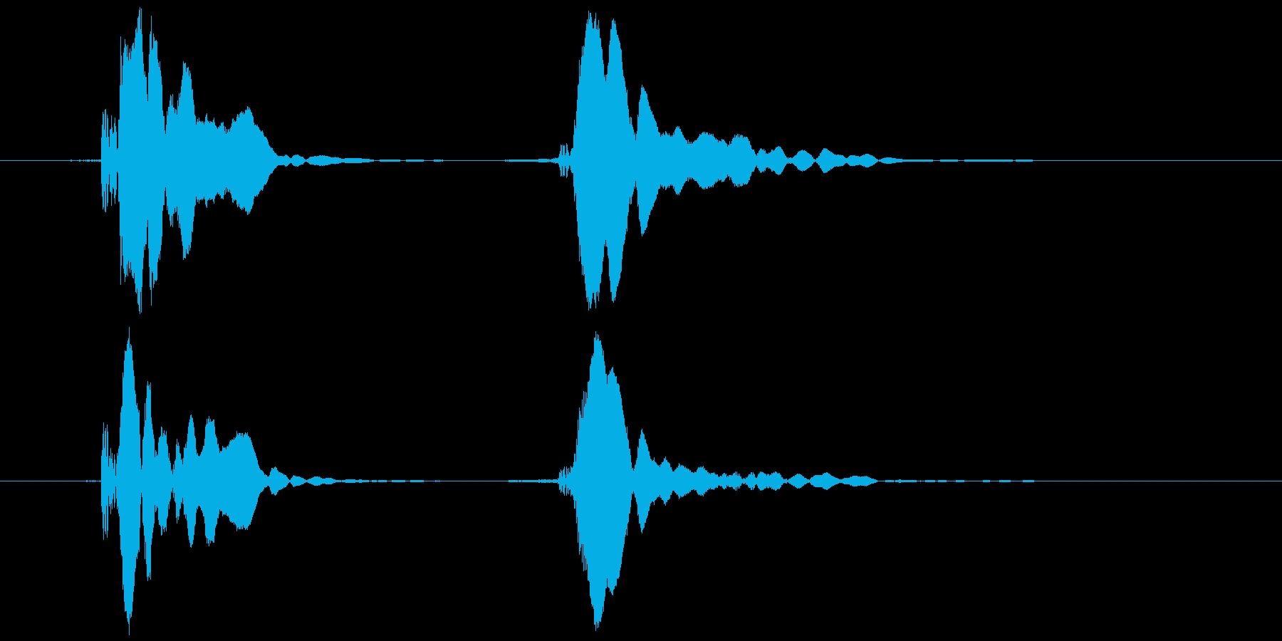 ピコピコハンマー ピコッ (高め)の再生済みの波形