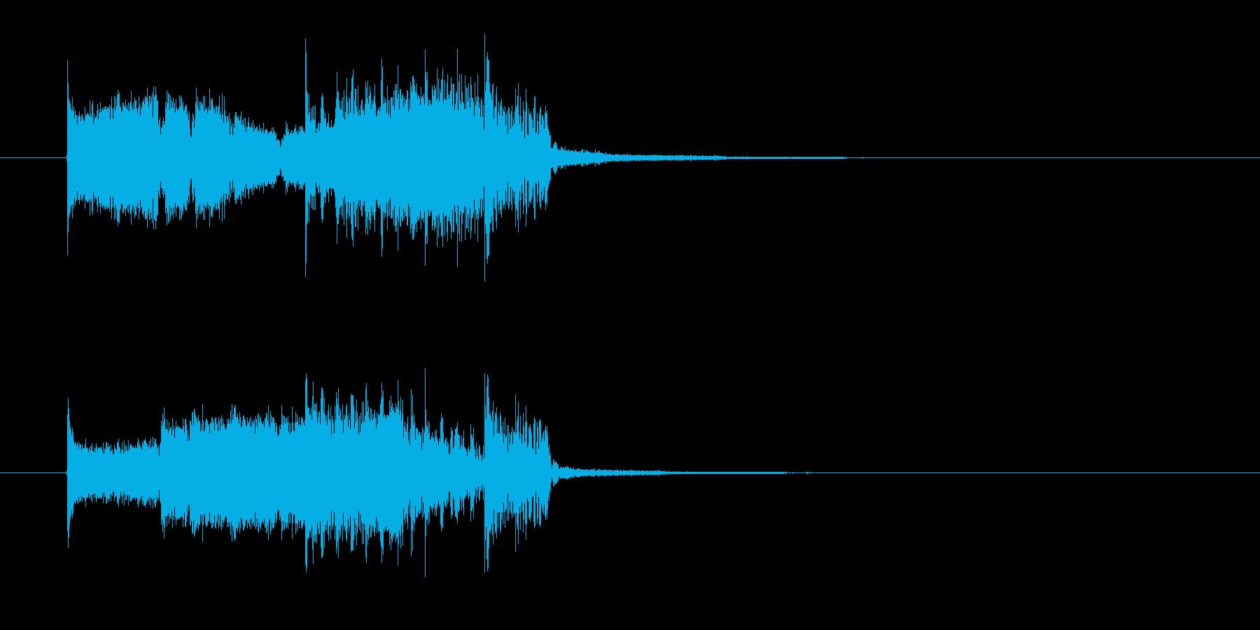疾走感あるパンクロックなエレキジングルの再生済みの波形
