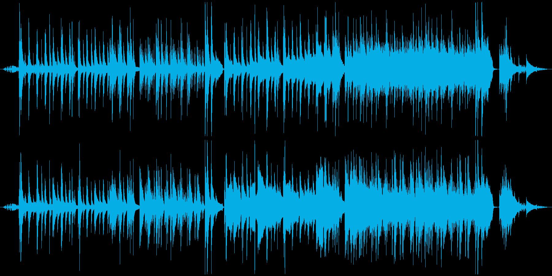 【蝉声付き】綺麗でノスタルジックなピア…の再生済みの波形