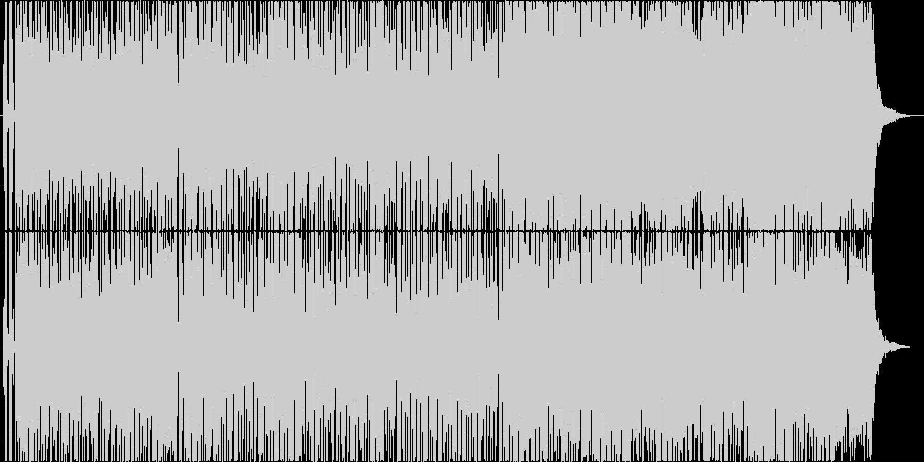 シンセとバイオリンのゆったりしたBGMの未再生の波形