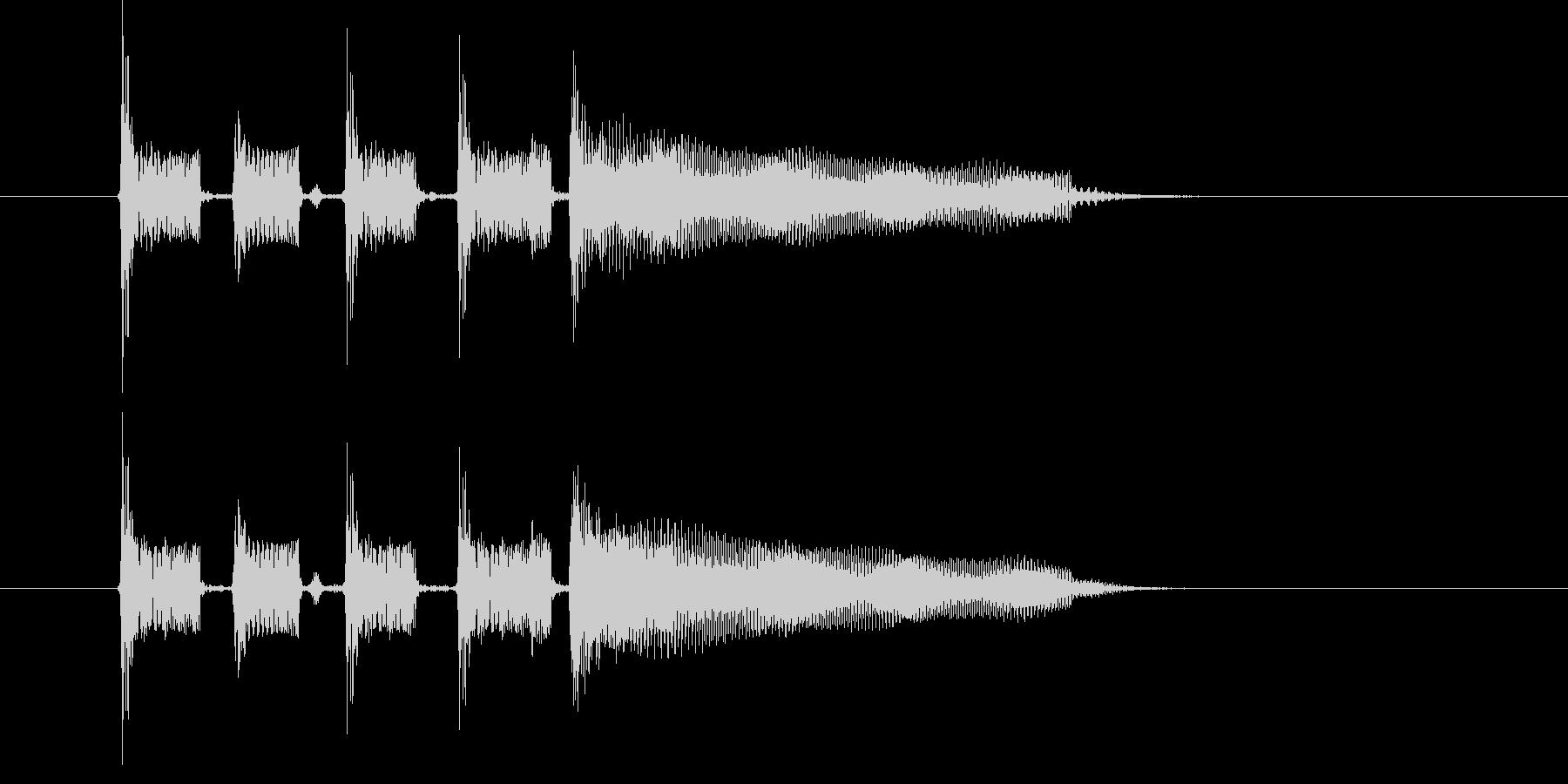 アップテンポで爽快感のある音楽の未再生の波形