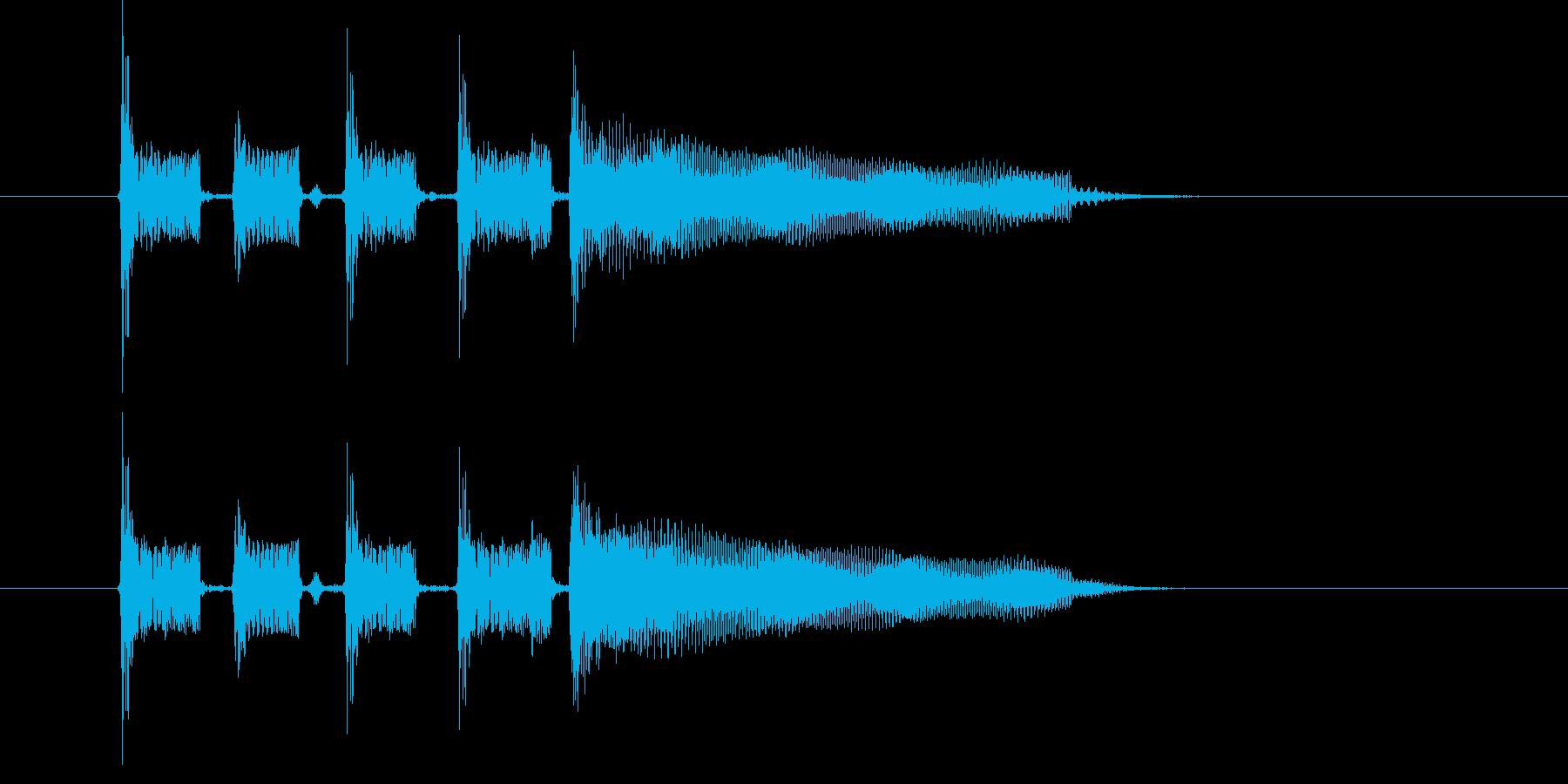 アップテンポで爽快感のある音楽の再生済みの波形
