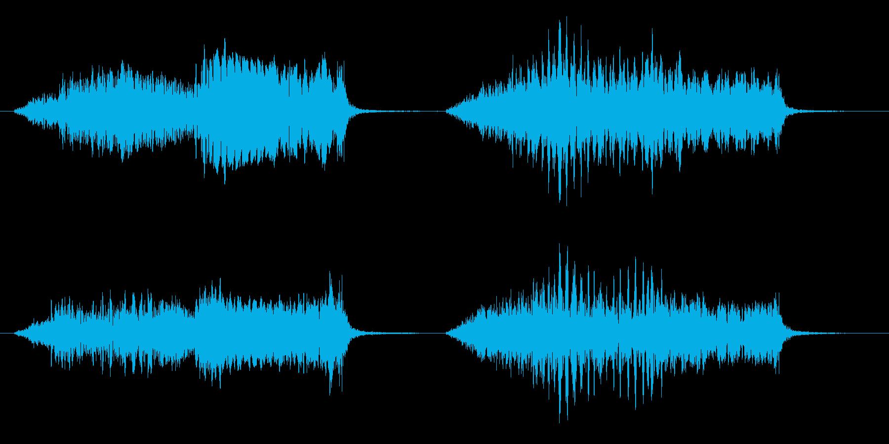 ヒヨドリの鳴き声の再生済みの波形