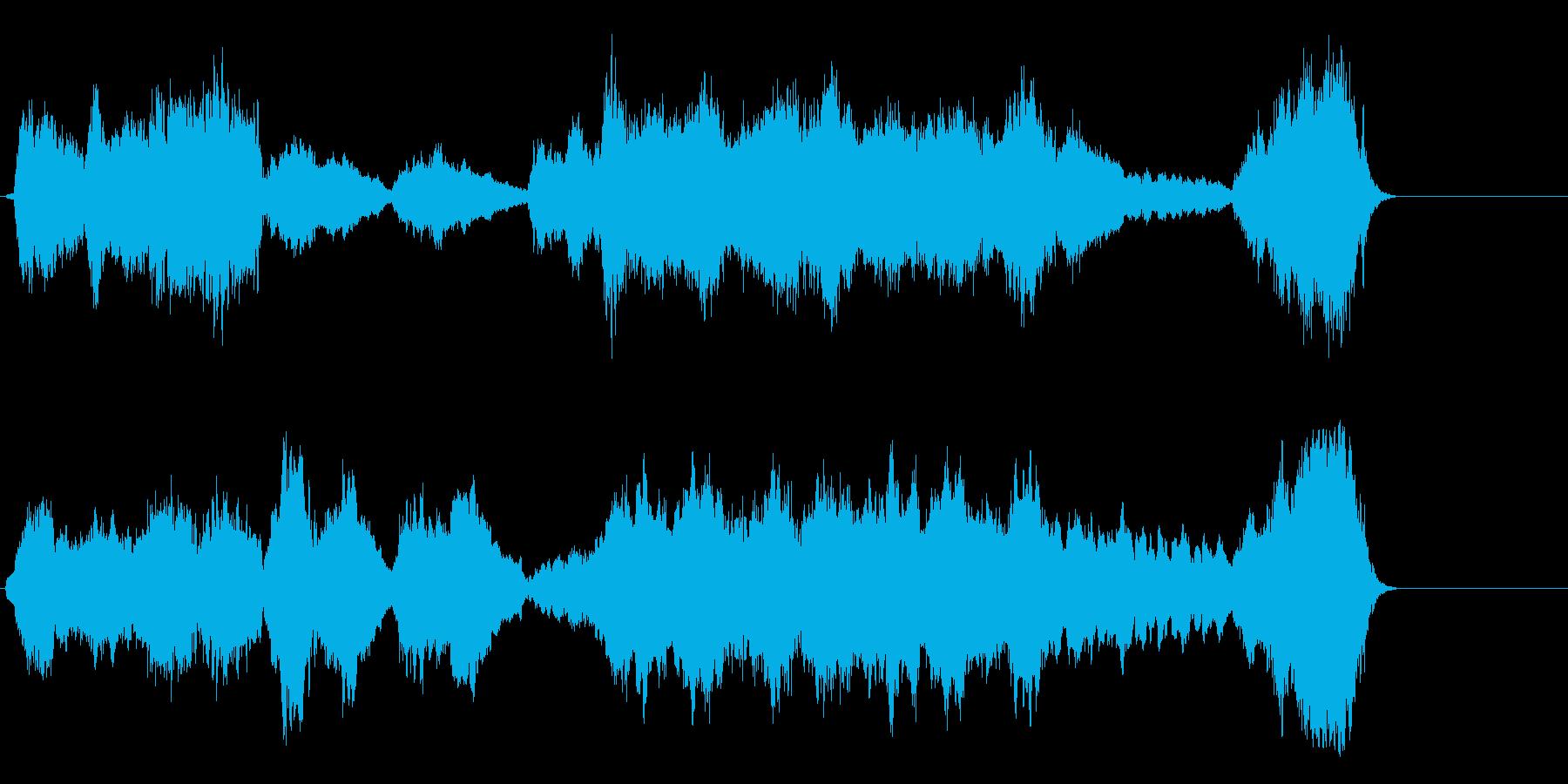 しんみり感動的なオーケストラの再生済みの波形