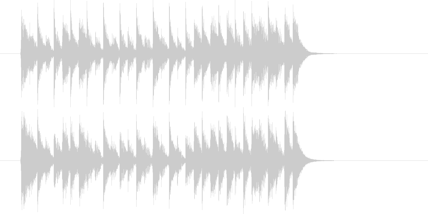 ムーディでメロディアスなシンセジングルの未再生の波形