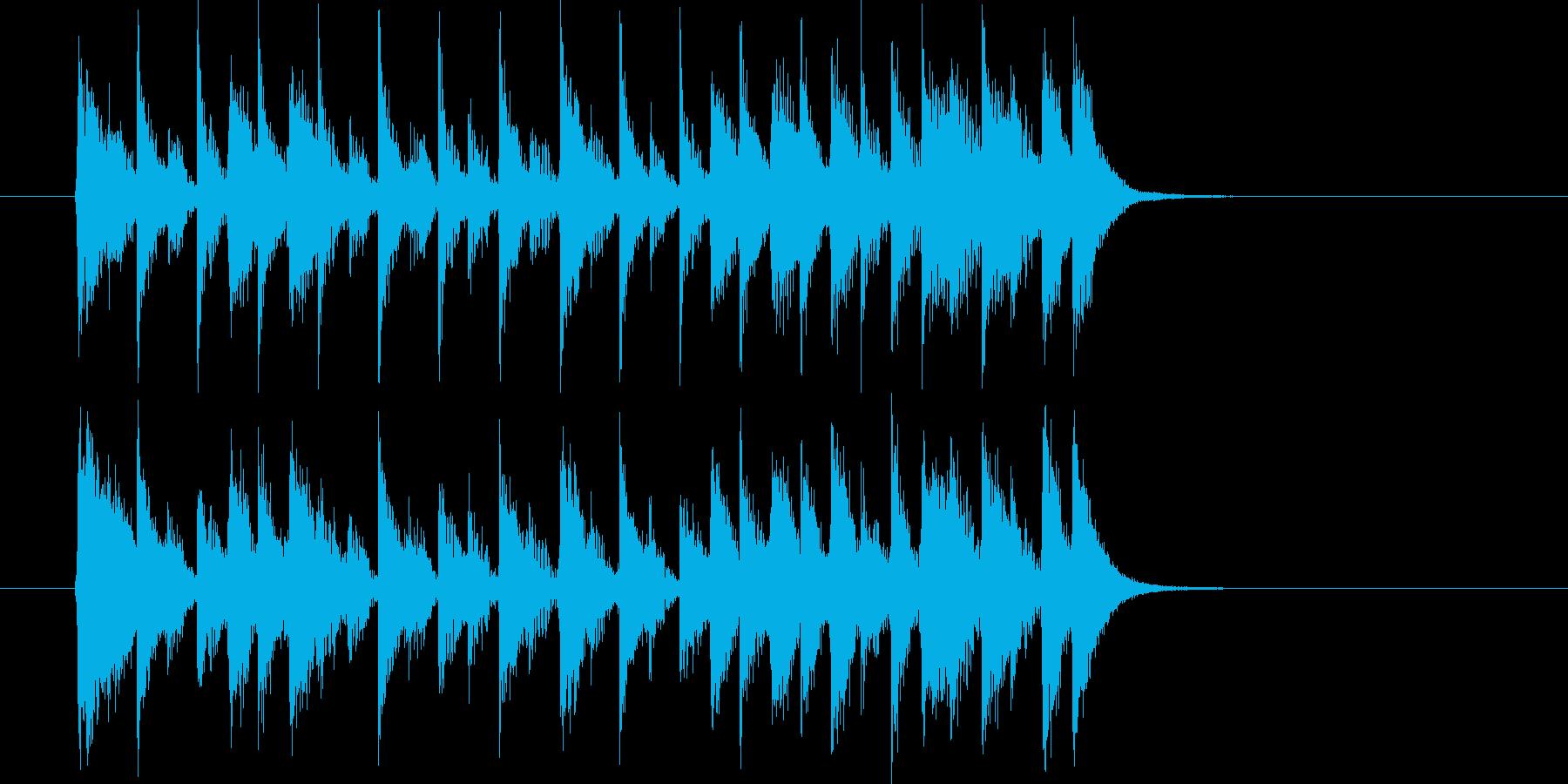 ムーディでメロディアスなシンセジングルの再生済みの波形