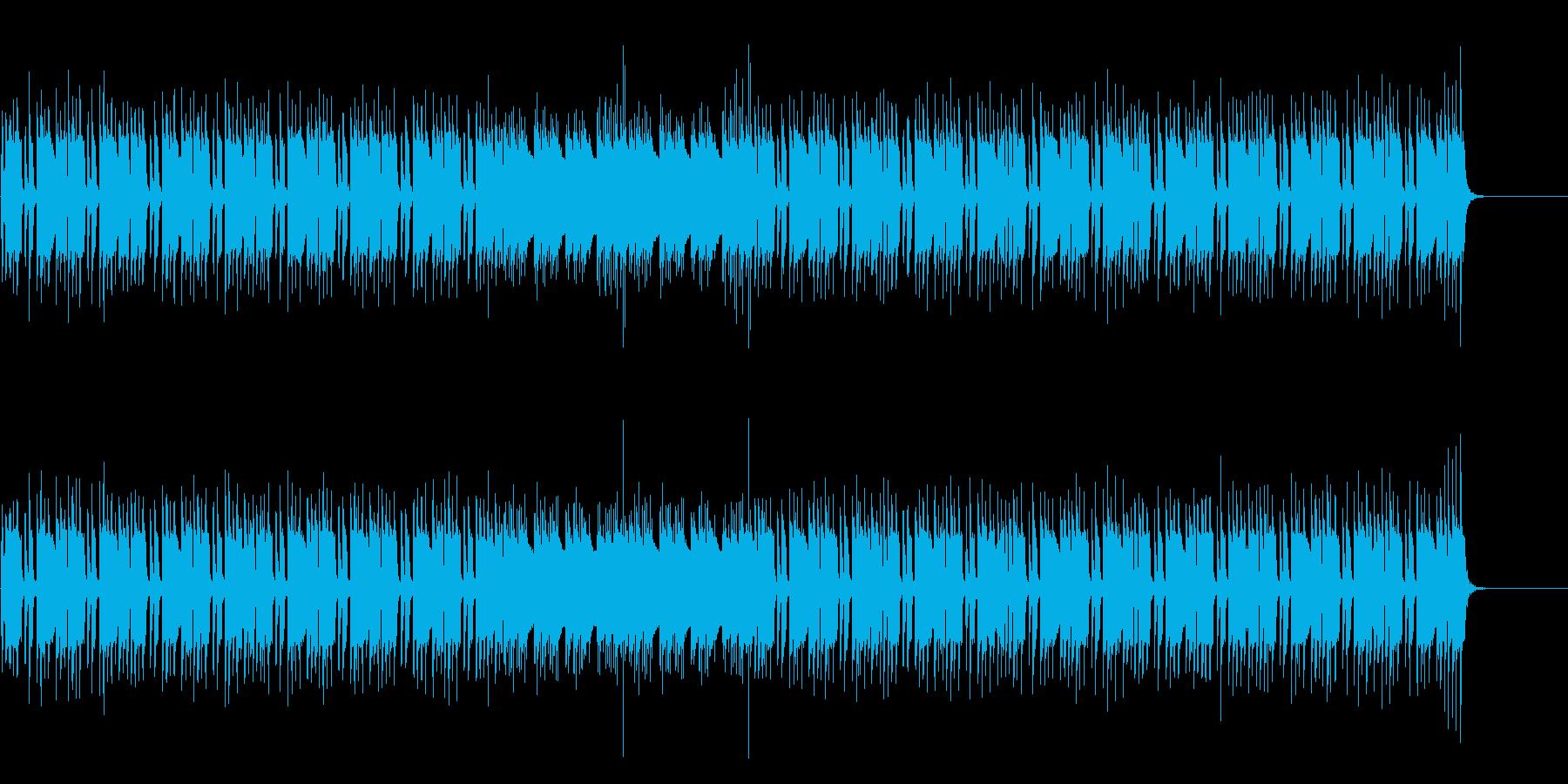 単調で緊迫感のあるマイナーテクノポップスの再生済みの波形