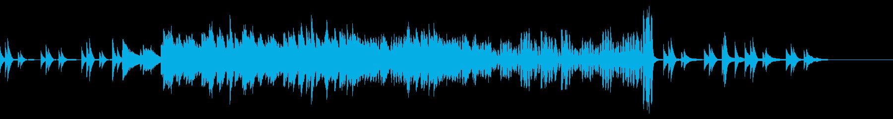 切なげなピアノ曲の再生済みの波形