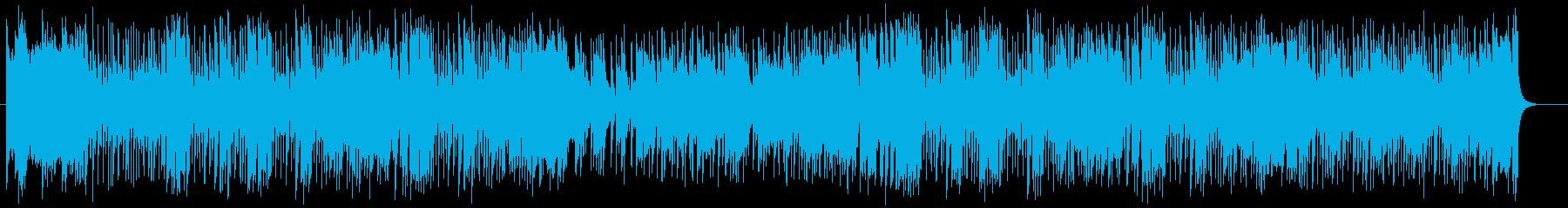 爽やかで激しいガールズポップスの再生済みの波形