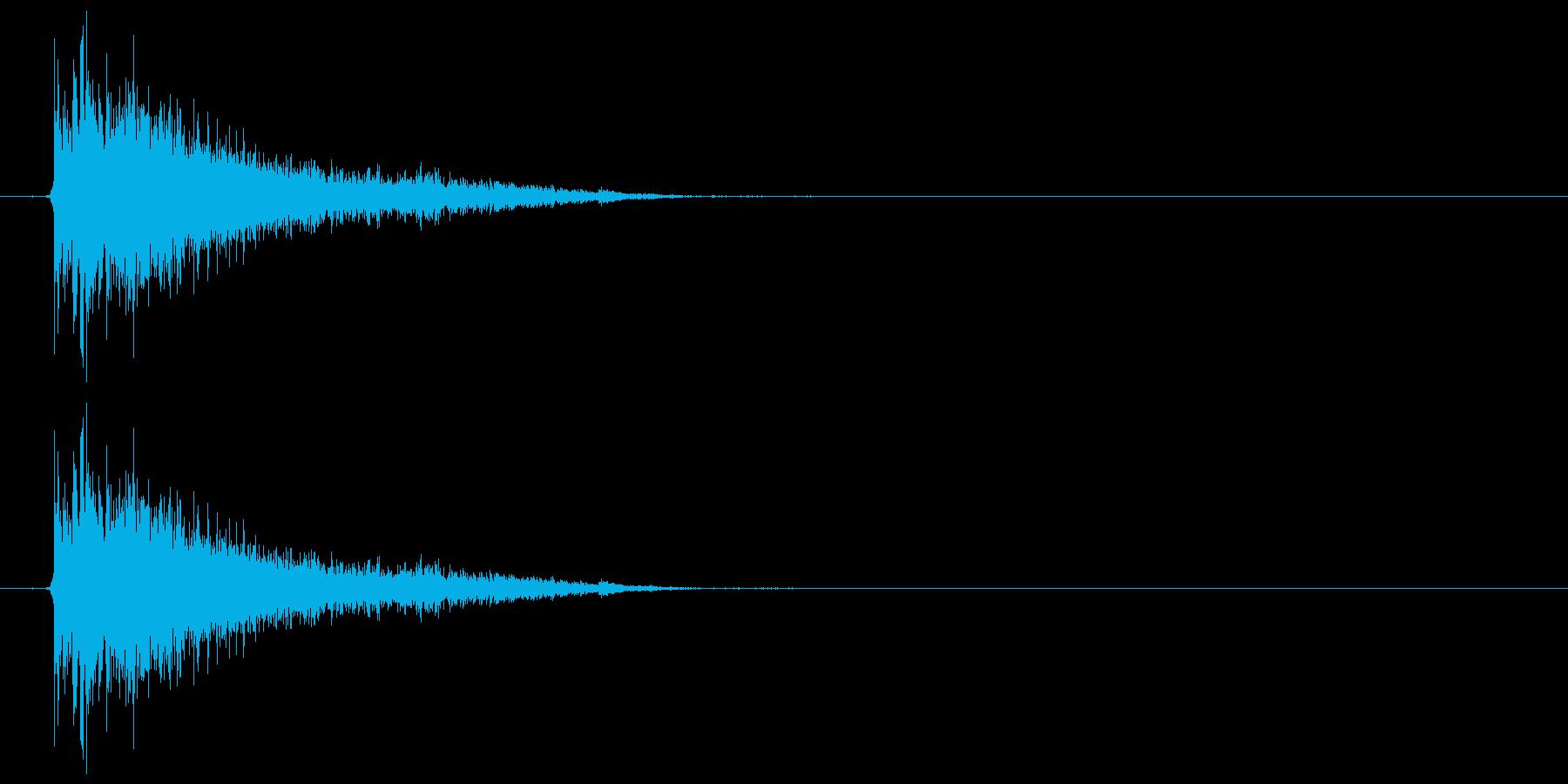 バスドラム+シンバル(ビシィー)の再生済みの波形
