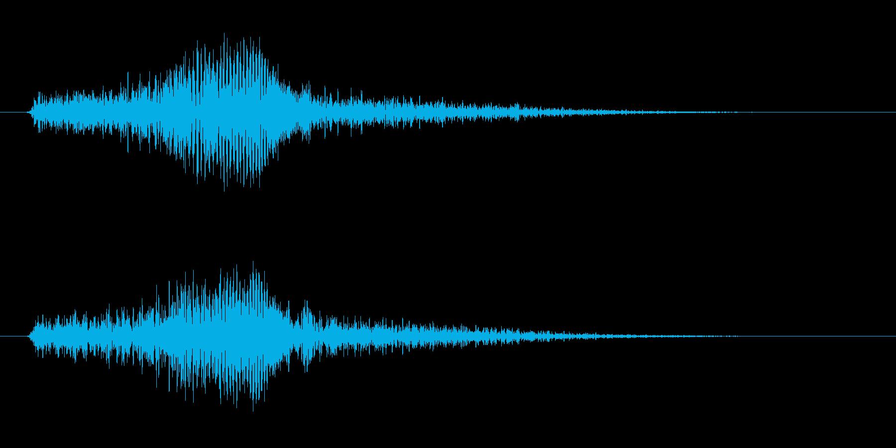 ひゅーい ひゅー ヒュー ヒューイの再生済みの波形