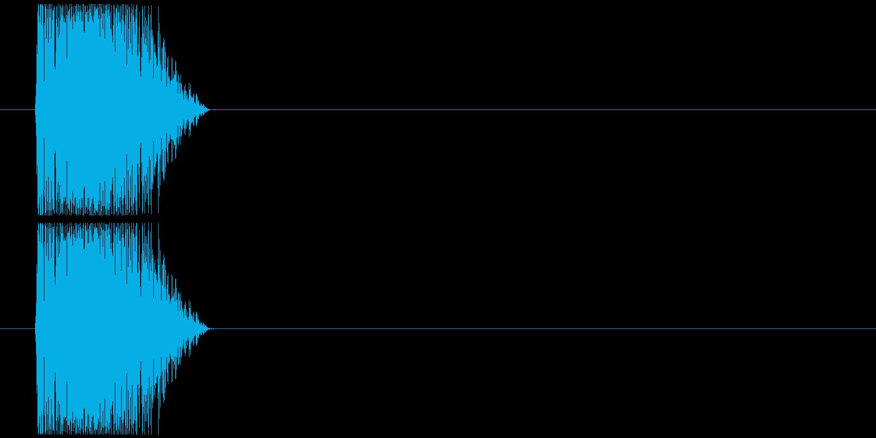 ダメージ打撃パンチの再生済みの波形