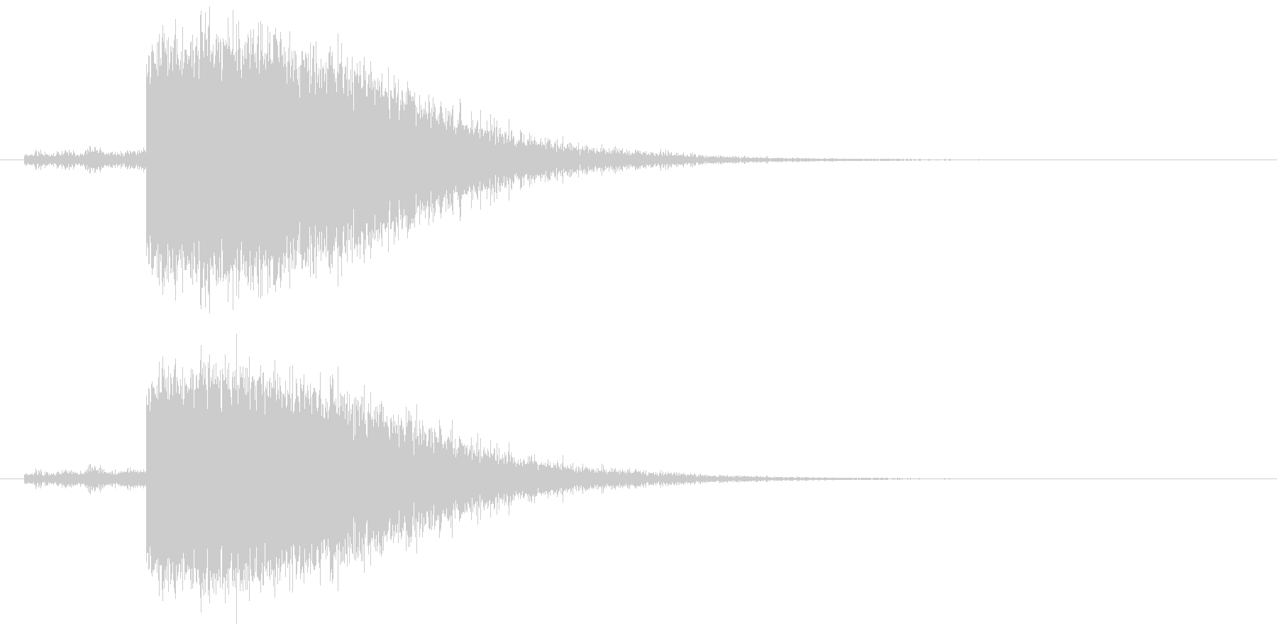 ゴロゴロ、ピシャーン(落雷の音)の未再生の波形