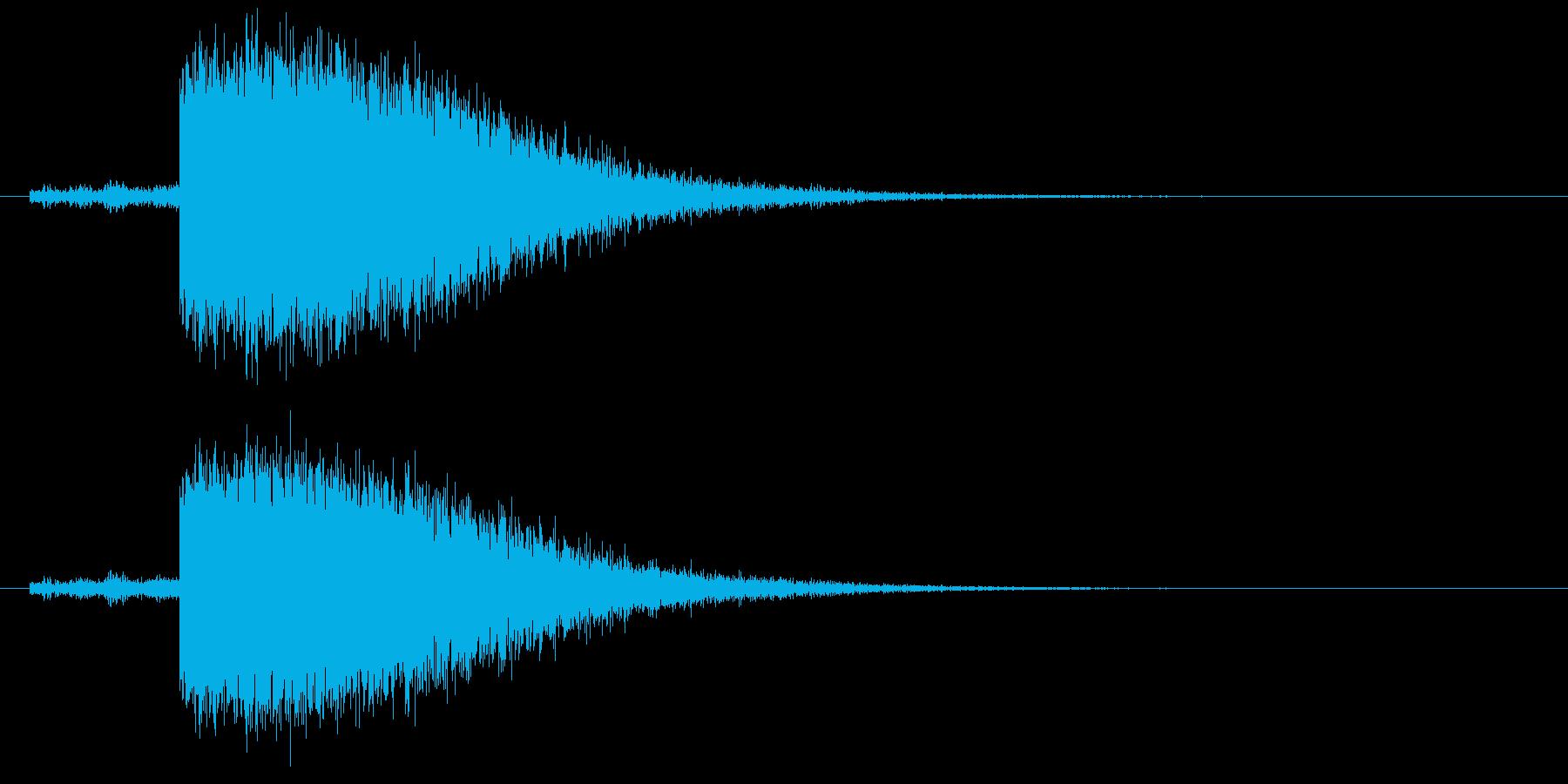 ゴロゴロ、ピシャーン(落雷の音)の再生済みの波形