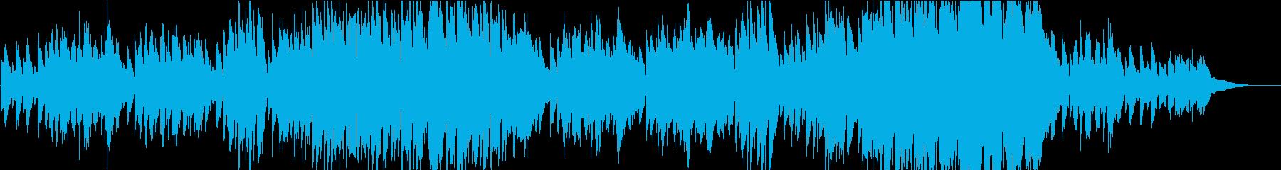 ピアノを使用したメランコリックなワルツの再生済みの波形