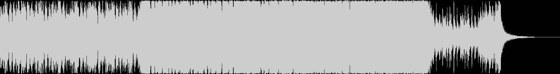 勇壮なオーケストライメージの戦闘の未再生の波形