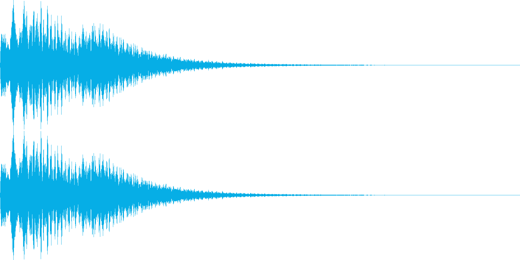 【SE】決定音07(キシーン)の再生済みの波形