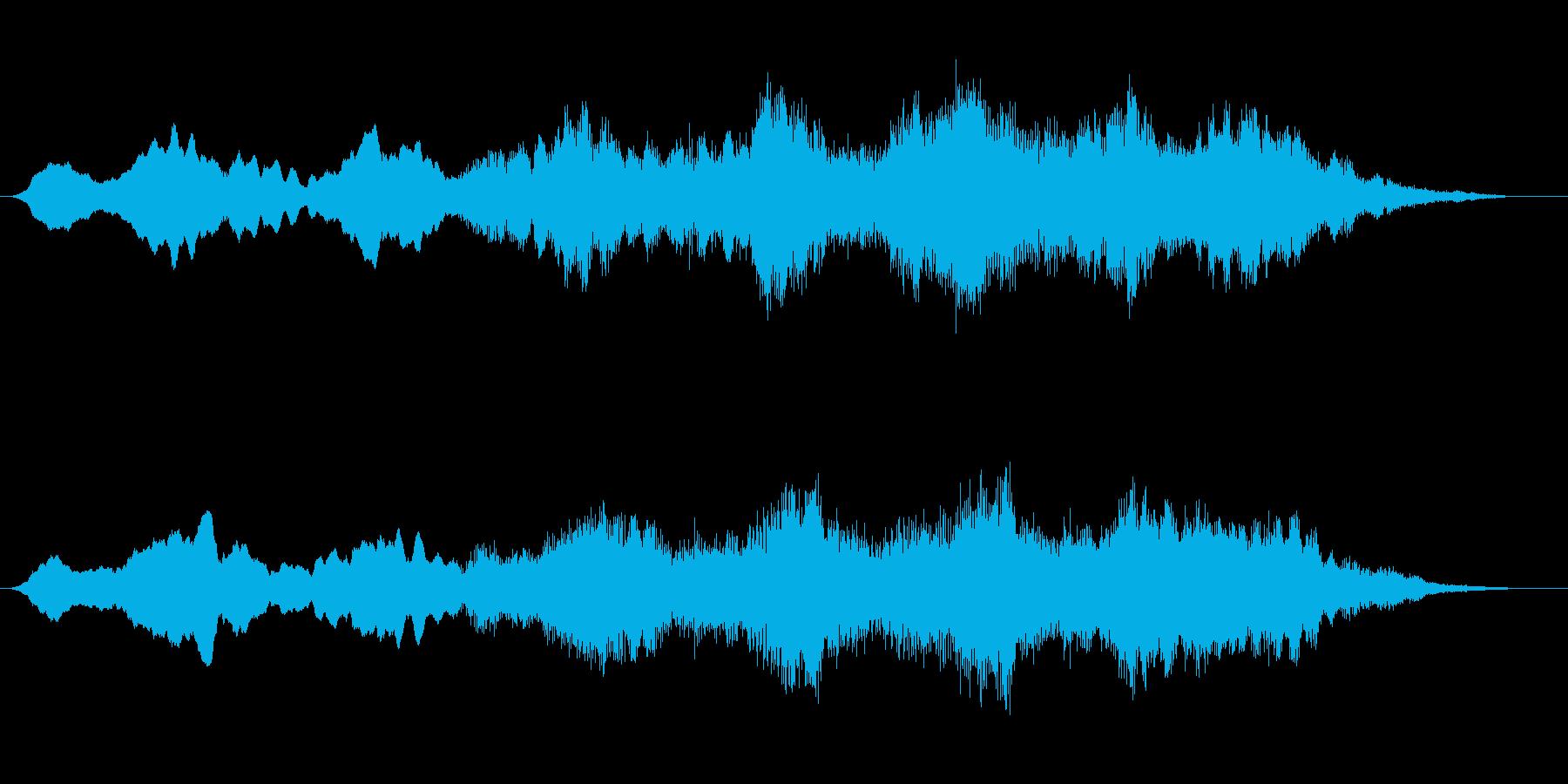 ゆったりとした雰囲気があるBGMの再生済みの波形