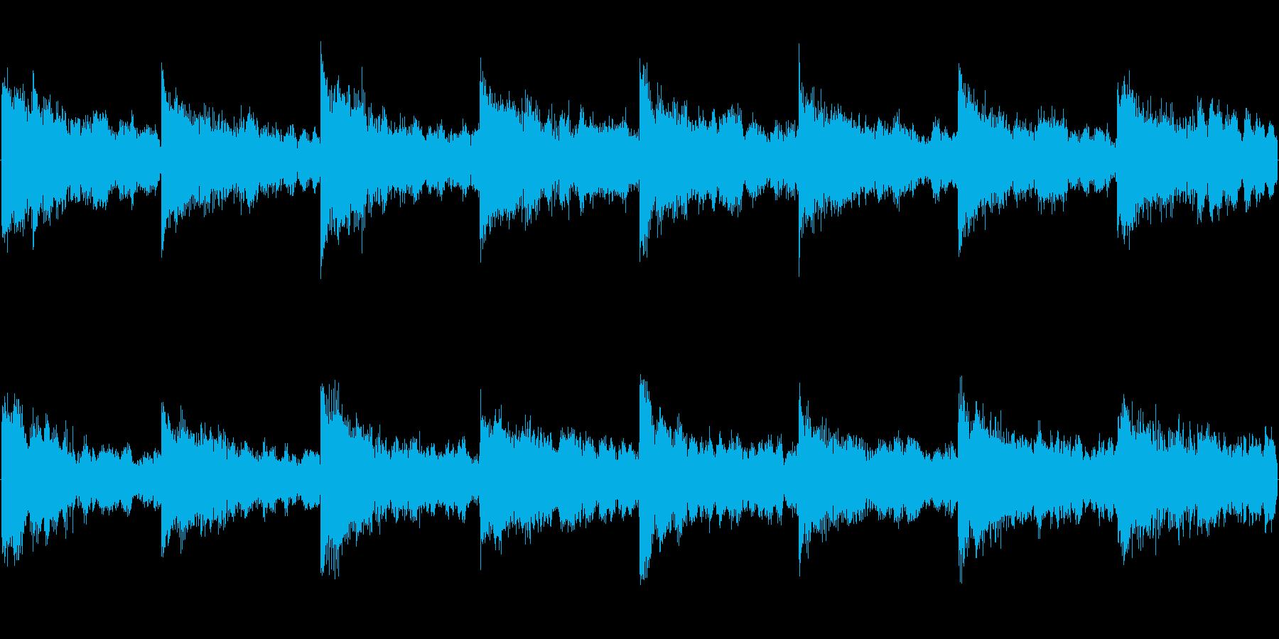 暗い雰囲気のホラーゲーム向けループ曲の再生済みの波形