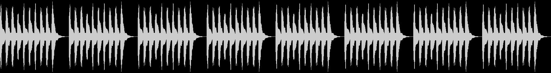 水中を漂うような浮遊感のある曲の未再生の波形