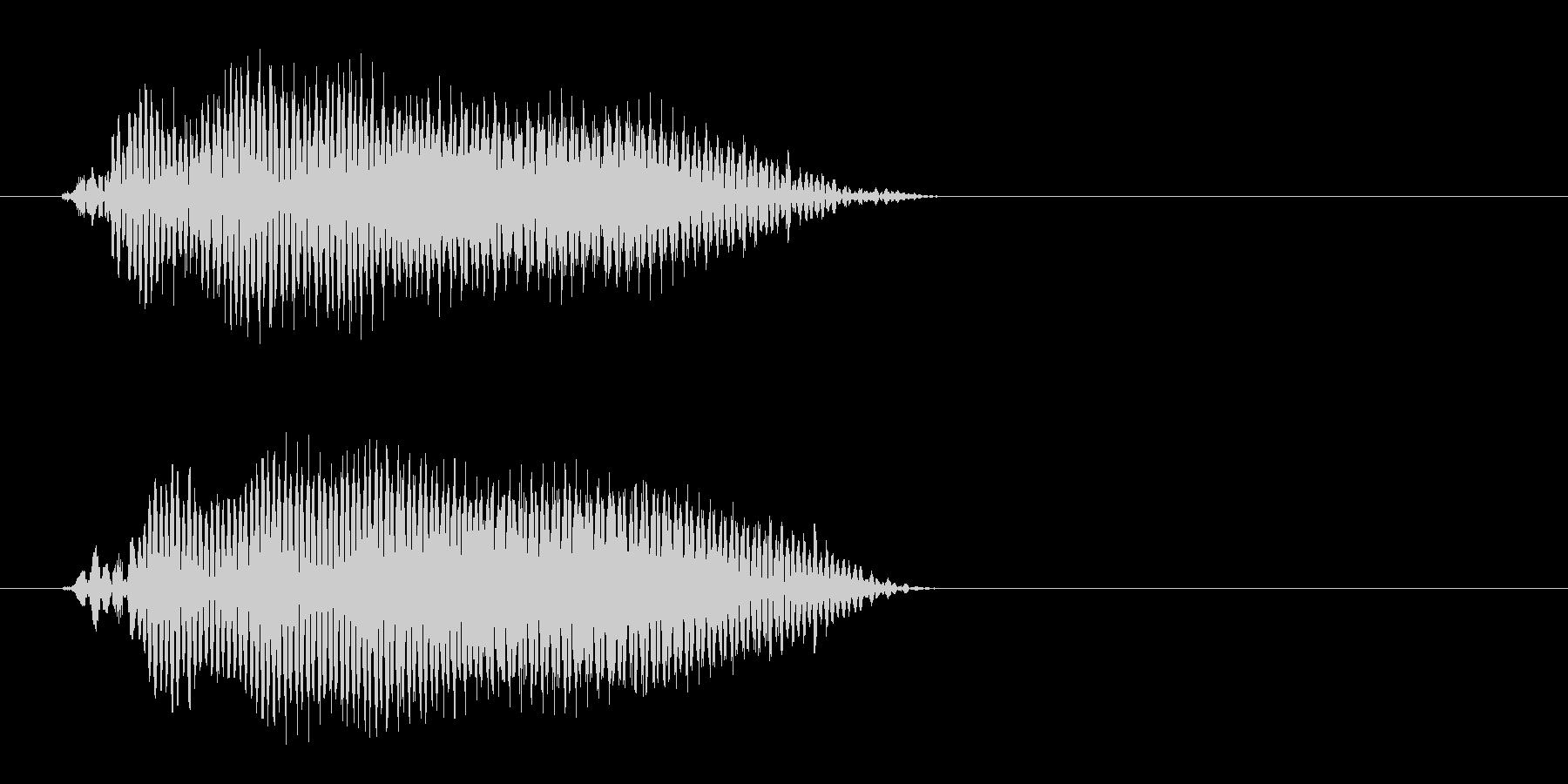 ピッという軽く短いボタン音の未再生の波形
