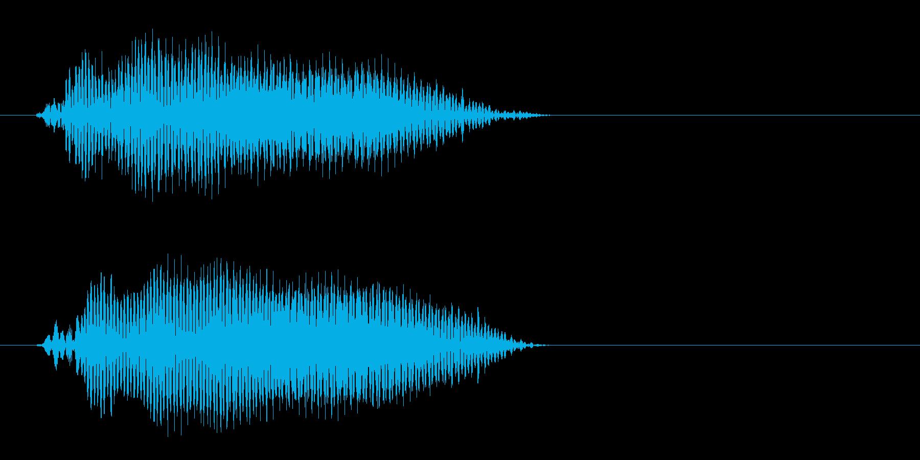 ピッという軽く短いボタン音の再生済みの波形