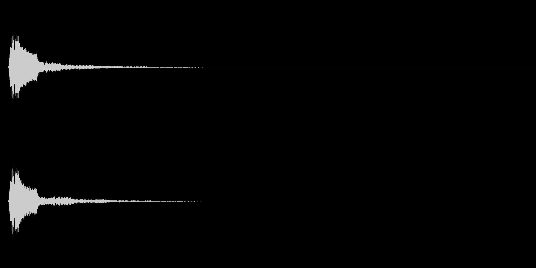 ギャン テロップ・決定音・タッチ音の未再生の波形