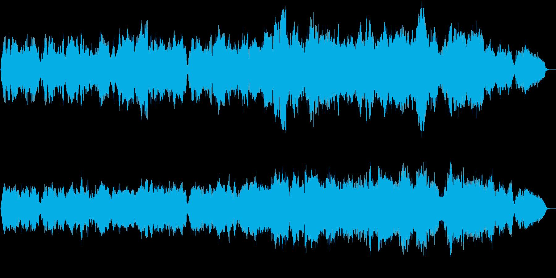 弦楽器と管楽器が印象的な映像向け作品の再生済みの波形