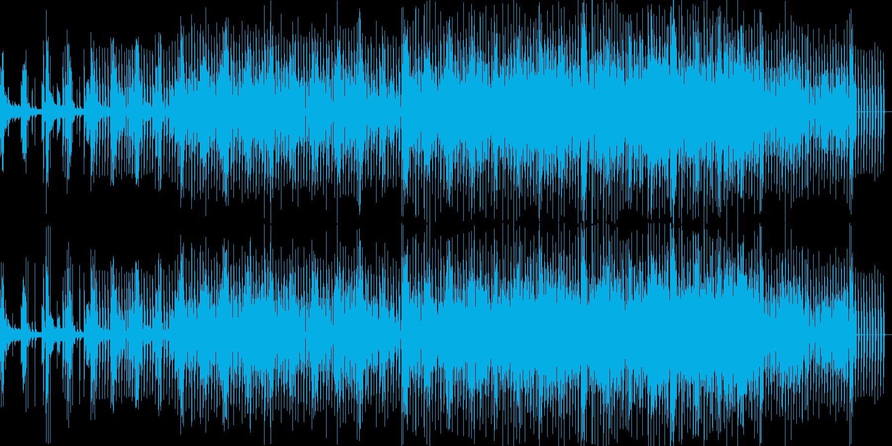テクノ 走り出す兵士 4つ打系の再生済みの波形