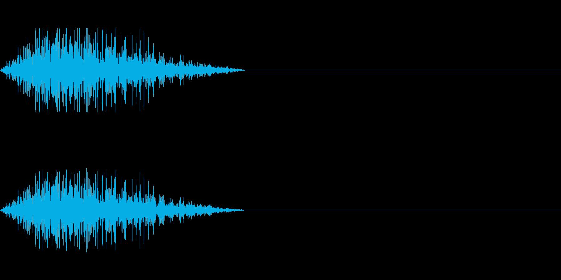 モンスターやゾンビのうめき声にの再生済みの波形