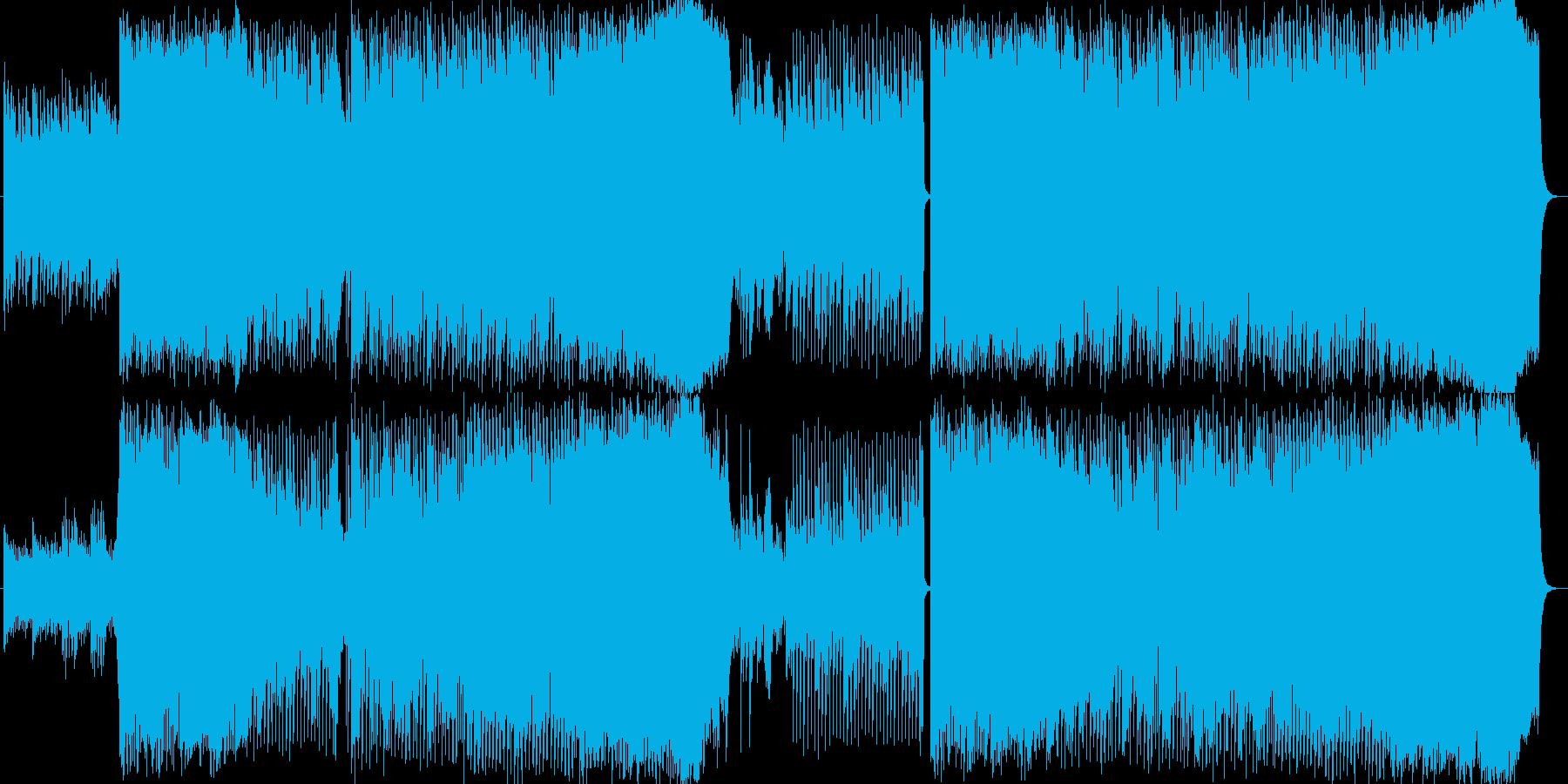 ナレーションのバックBGMや、ブランド…の再生済みの波形