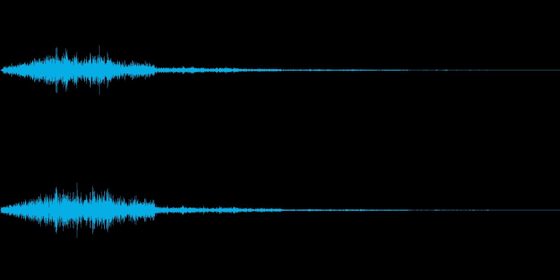 シャッ(選択音)の再生済みの波形
